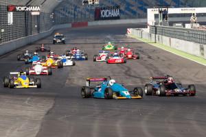 KLETTWITZ, Germany - 25. Mai 2014: ADAC HAIGO Historic Formel Cup, Start Rennen 2, Jörg Koitsch und Falk Schwarze
