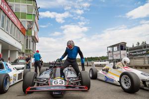 BRNO, Czech Republic - 05. Juli 2014: ADAC HAIGO Historic Formel Cup, Rennen 1, Sieger Falk Schwarze, MTX 1-06 und der Zweite Nils-Holger Wilms, M 90