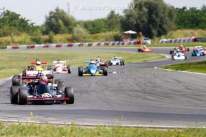 POZNAN, Poland - 10. August 2014: ADAC HAIGO Historic Formel Cup, Rennen 2, Start Falk Schwarze, MTX 1-06 in Führung